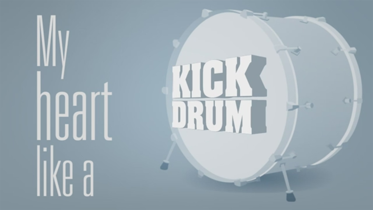 Tut: Kick drum heart with 3D Extruder and iExpressions