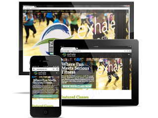 Exhale Fitness Studio Branding and Website